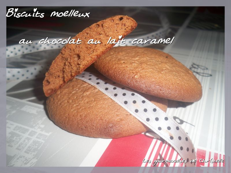biscuits mo lleux au chocolat au caramel les gourmandises de christelle. Black Bedroom Furniture Sets. Home Design Ideas