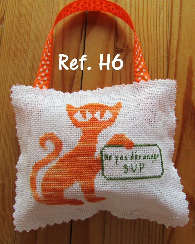 Coussin WC orange