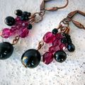 Boucles en Obsidienne