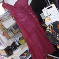 robe finie dans mon atelier