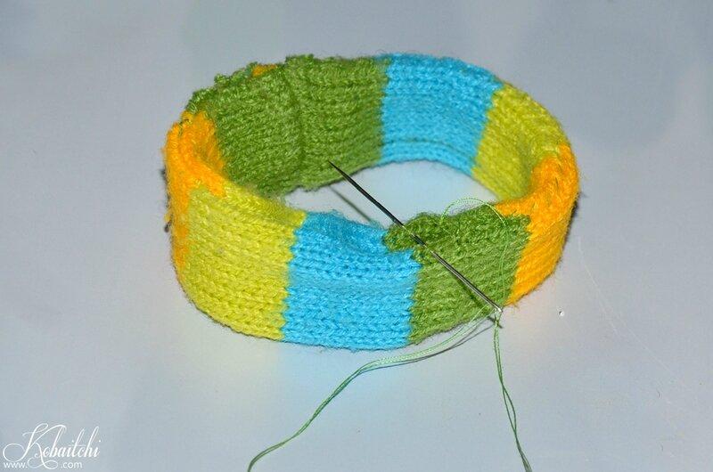 DIY bracelet en pull (4)