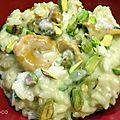 Risotto aux girolles / brocolis et pistaches