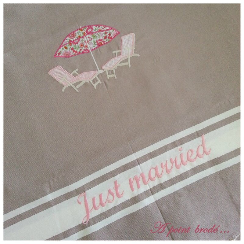 Fouta Just Married parasol_1