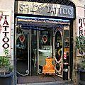 Barcelone - Barri Gotic, chaise, tatoo_5063