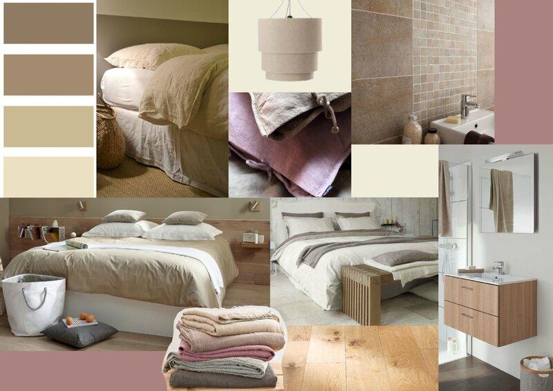 Projet client ambiance naturelle pour une chambre d 39 amis sonia saelens d co for Deco petite chambre simple