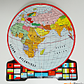 Collection ... carte scolaire le monde * globe
