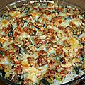 Gratin de courgettes-riz-saucisses