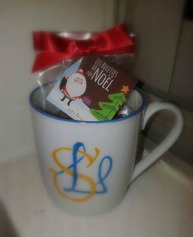 mug avec monogramme LS