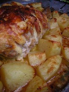 Roti de porc orloff pomme de terre chez cathourinette - Temps de cuisson pomme de terre raclette ...