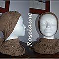 Un bonnet et un chauffe-cou en coton (tuto)