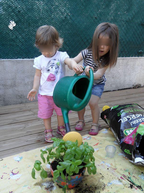 Pot en terre peint et d cor pour offir une jolie plante - Arrosage basilic en pot ...