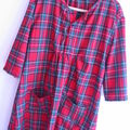 robe G en tartan rouge