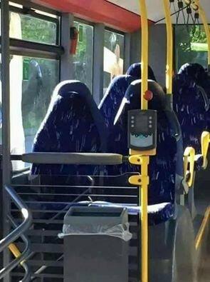 islam burka humour bus