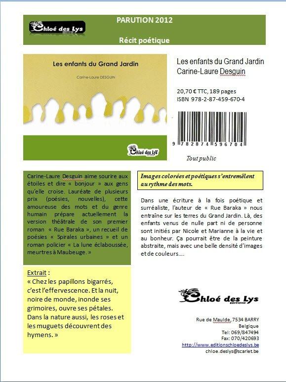 Les enfants du Grand Jardin, lecture et commentaire de Denis Billamboz