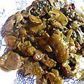 Sauté de porc au curry et champignons de paris