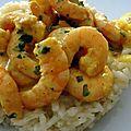 Recette du risotto de crevette au curry