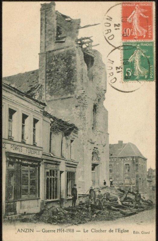 Anzin eglise 1918