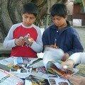 Un milagro:¡Leo y Pablo, muy concentrados!