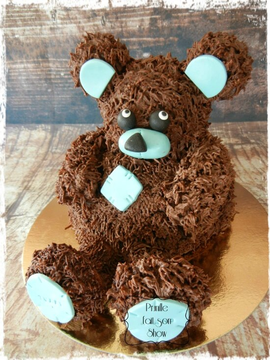 gateau ourson 3D assis prunillefee 1
