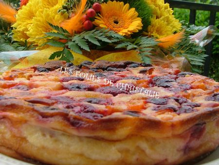 Clafoutis abricots framboises 5