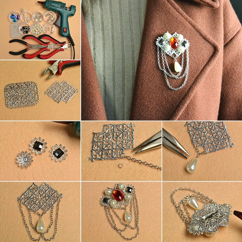 1080-Easy-Project---How-to-Make-a-Vintage-Silver-Brooch-with-Chain-and-Beads