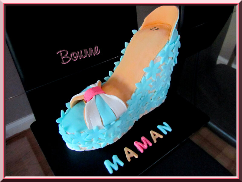 Gâteau chaussure fête des mères (5)