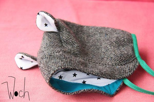 beguin bébé tweed étoiles biais vert Woch 1