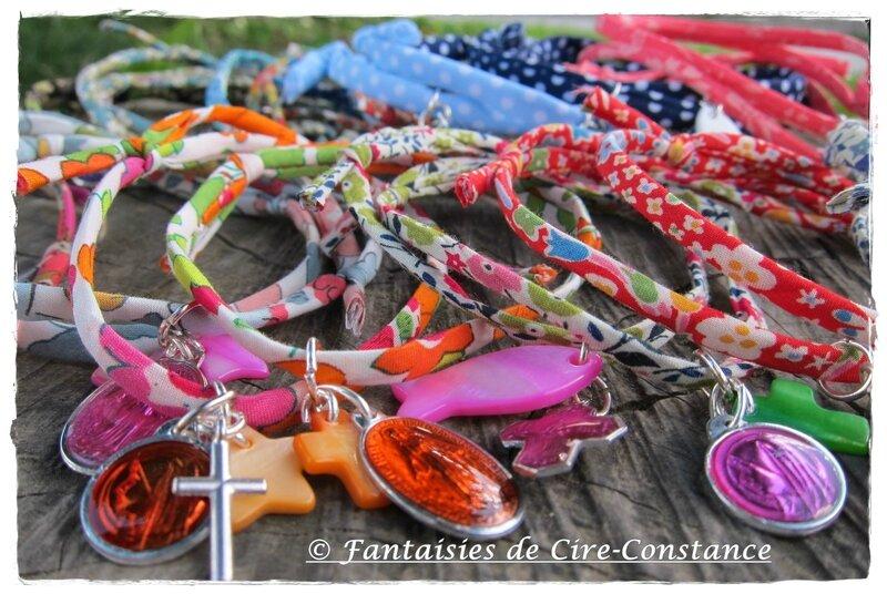 Bracelets cordon 2 ou 3 breloques spi-3