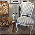Une chaise de faite, il en reste 5