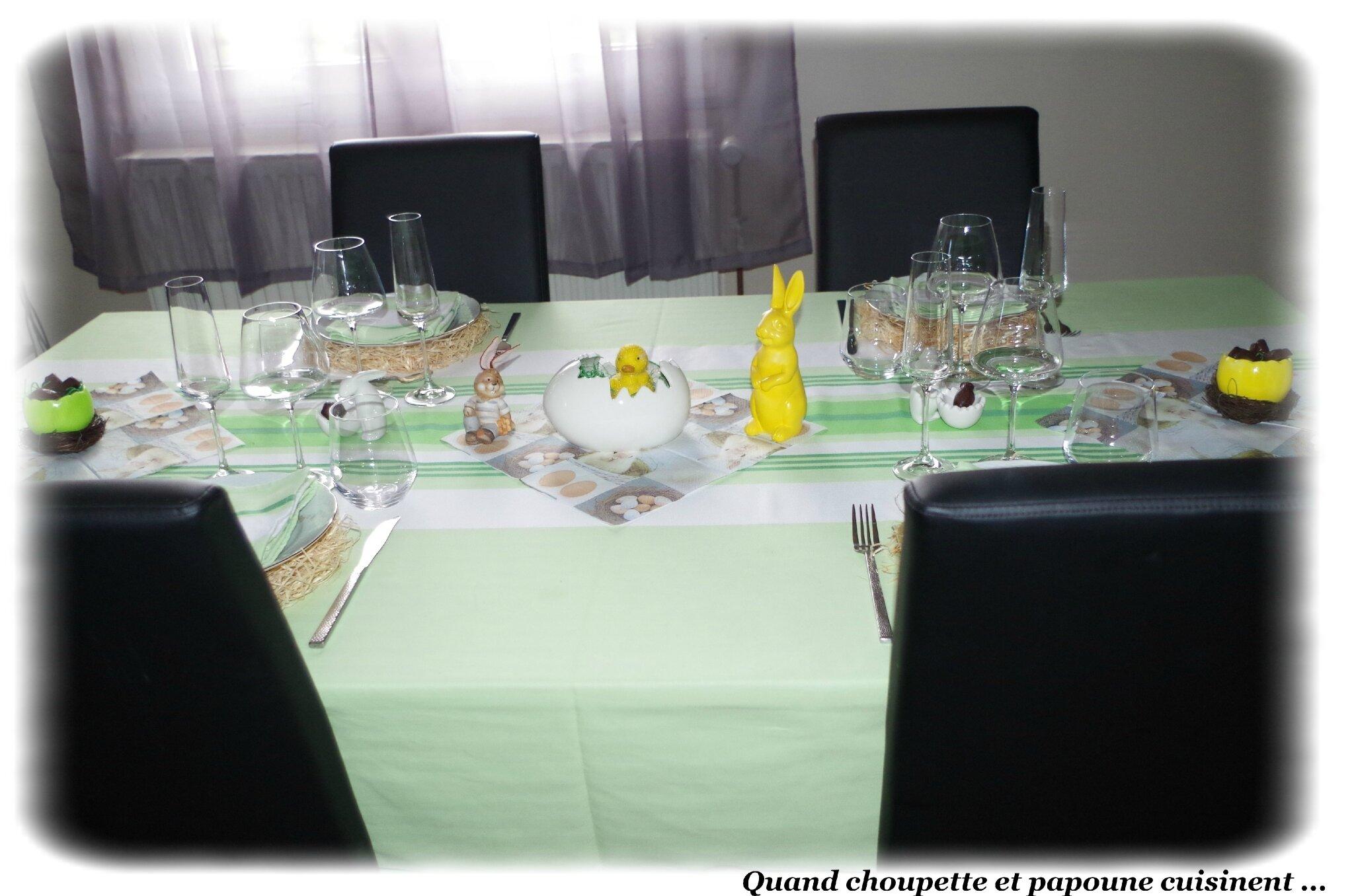 TABLE DE PÂQUES 2018