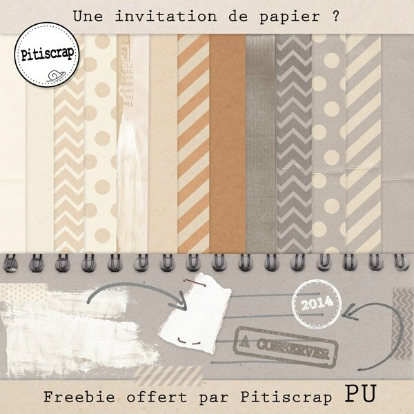 Pitiscrap-Invitationpapier preview