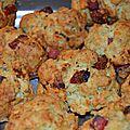 Cookies tomate séchée, chorizo et parmesan