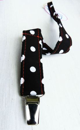 attache sucuette retro noir a pois1