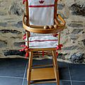 chaise haute ancienne poupée (vendue)