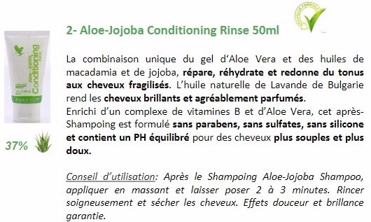 TRAVEL KIT APRES-SHAMPOING ALOE JOJOBA 1