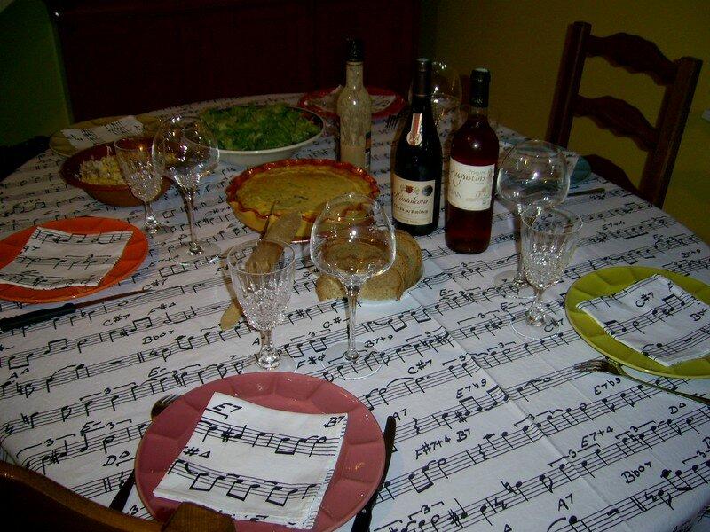 Petit repas entre amis jolie table recettes de for Repas amis soir
