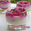 Verrine de pitaya et fromage blanc
