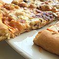 Pizzas aux crevettes et sauce rose