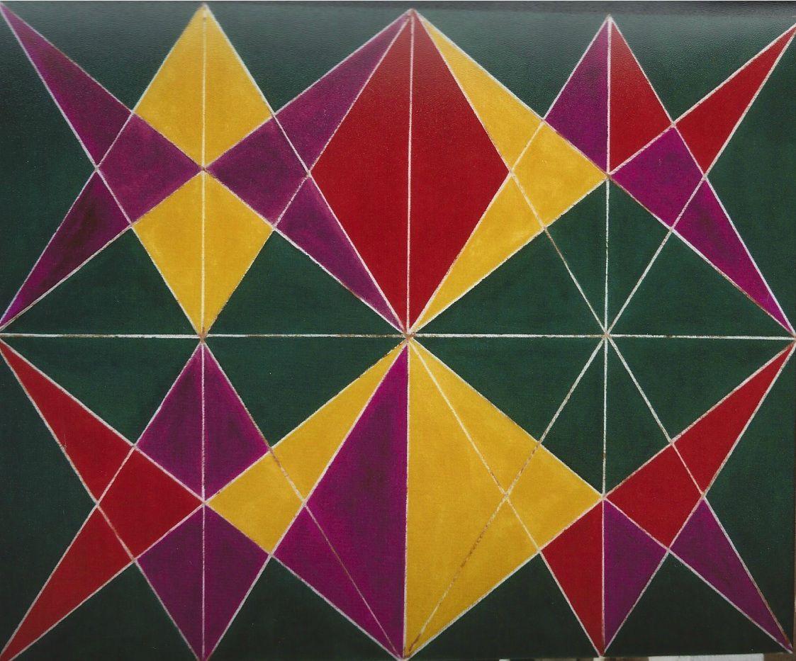 Abstraction g om trique op art art op huiles sur toile for Abstraction geometrique