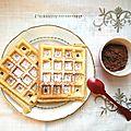 Goûter gaufre & pâte chocolat/noisettes