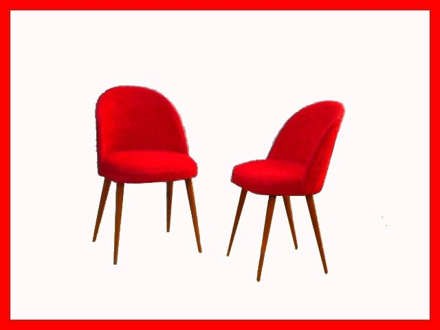 Chaises vintage cocktail moumoute rouge meubles et for Cocktail scandinave chaises