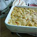 Gratin de coquillettes au camembert (trop) vieux - gratin de coditos al camembert (demasiado) viejo