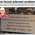 Saint-amand-sur-sèvre n'oublie pas son passé vendéen