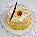 Chiffon cake à la vanille