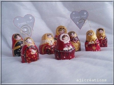 Matriochkas pour un Noël Russe (création marimerveille- Aji)