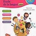français -Etude de la langue CE2