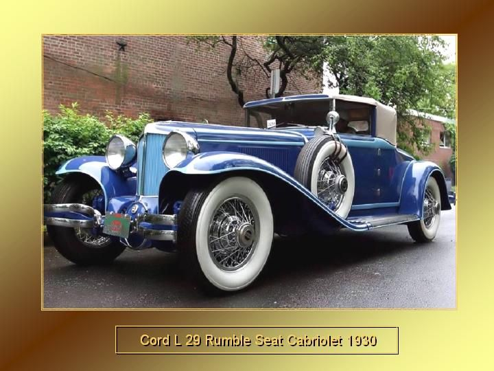 1930 - Cord L 29 Rumble Seat Cabriolet