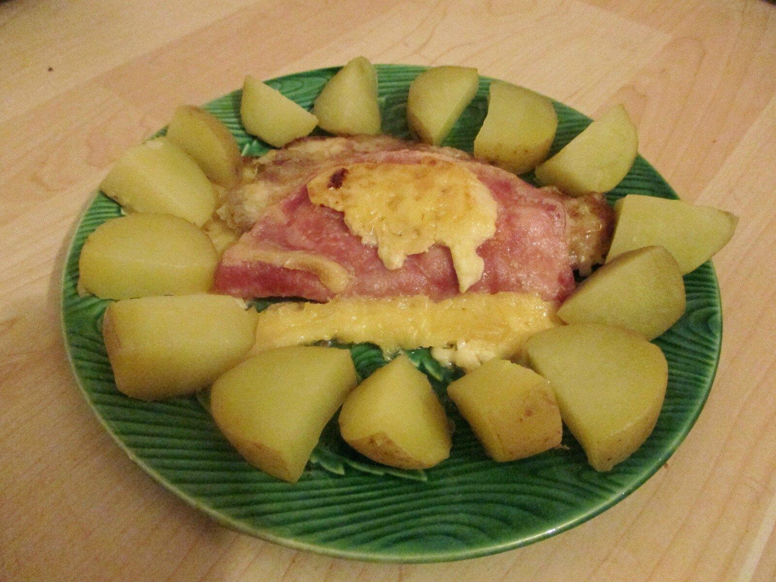 Cote de porc roul e au fromage a raclette une souris for Une souris dans ma cuisine