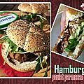Hamburger de poulet parmesan avocat