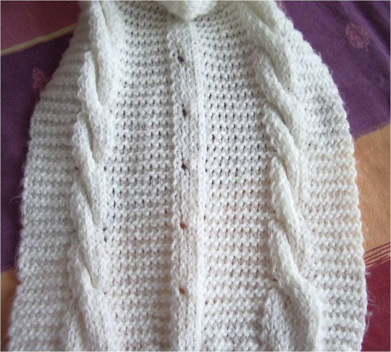 Mitaines bonnet echarpe au tricot nana fafo crochet - Point tricot fantaisie pour echarpe ...